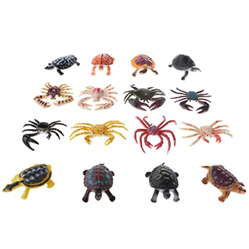 Perfk 全16点入り 子供 カメ カニ 海洋動物モデル 品揃え 知育 教育おもちゃの商品画像