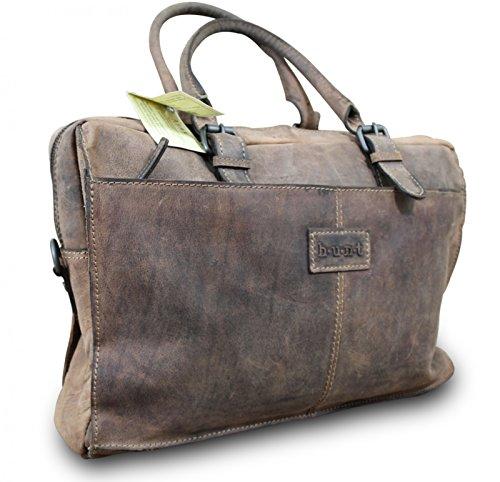 HUNT épaule messenger sac à main cross body bag sacoche haute cuir de buffle style vintage marron