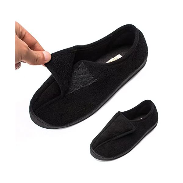 Git-up Women Diabetic Slippers Arthritis Edema Memory Foam Closed Toed Slippers