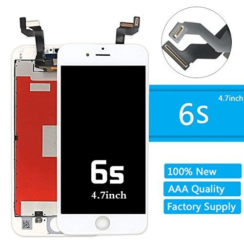 designer fashion 23917 e7a90 for iPhone 6s LCD Screen Replacement (4.7 Inch) Display Touch Digitizer  Assembly Repair Kit (6s 4.7 White)