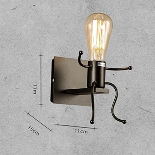 Kiven Creative Wall Light  Industrial Sconce Vintage Robot Wall Light - Hubbardton Bathroom Sconce