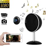 Hidden Camera Bluetooth Speakers Spy Camera - 1080P WIFI HD Night Vision Wireless 170° Video Recorder Real Time View Nanny Cam