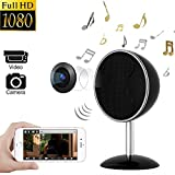 Hidden Camera Speakers – Spy Camera 170 Degree 1080P WiFi HD Night Vision Mini Camera Video Recorder Wireless Nanny Cam
