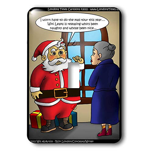 3dRose Londons Times Gen. 2 Holidays Christmas - Santa Wiki - Light Switch Covers - single toggle switch (lsp_15624_1)