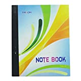 Triplicate Notebook Hard Cover Ruled Line and Plain Sheet Writing Notebook Stationary Supplies 300 Sheets - 1 Pcs