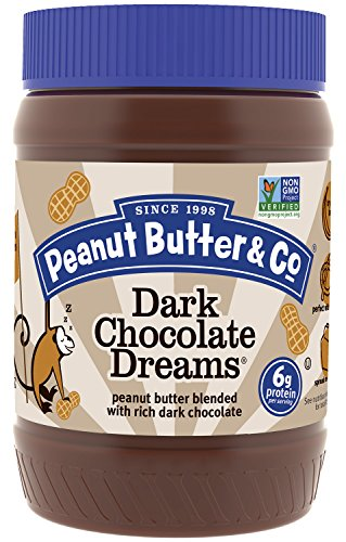 Peanut Butter & Co. Non-GMO, Gluten Free, Vegan Peanut Butter, Dark Chocolate Dreams, 16 Ounce Jars (Pack of 6)