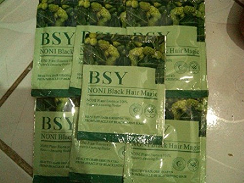 1 x 20g. BSY NONI BLACK HAIR COLOR Organic Natural Hair Dye (Black) Covers Grey Hairs (No PPD para-phenylenediamin...