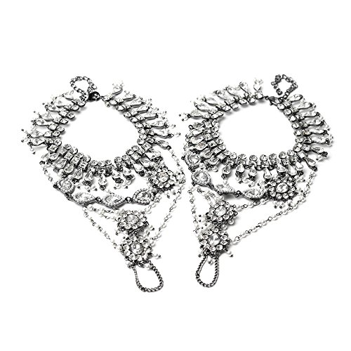eaa37aeff9be0b Forever Soles Women s Ancient Dance Barefoot Sandal Anklets - Silver - Buy  Online in UAE.