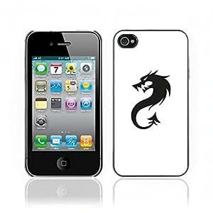 Carcasa Funda Case // V0000558 Black Dragon Logo// Apple iPhone 4 4S