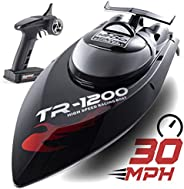 Remote Control Boat, 30 MPH Rc Boats for Adults, Rc Boat for Lakes, Auto Flip Recovery, Professional Series, Fastest Rc Raci