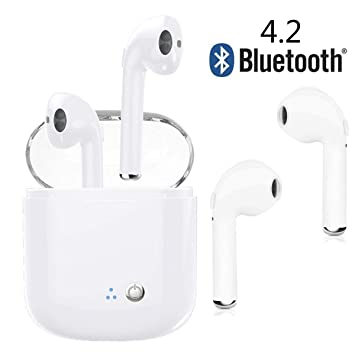 Auriculares Bluetooth, Auriculares inalámbricos Auriculares estéreo Auriculares Deportivos inalámbricos Compatible con iPhone de Apple 8 X 7 7 Plus: ...