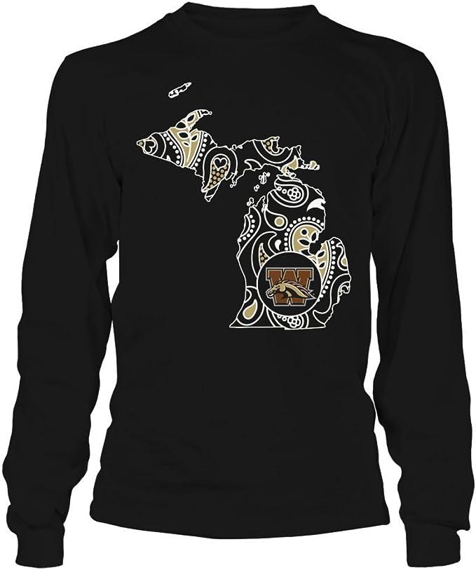 Medium Western Michigan Broncos Alma Mater NCAA Mens Long Sleeve T-Shirt