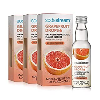 SodaStream Fruit Water Drops, 1.36 Oz, Pack of 3 (Grapefruit)
