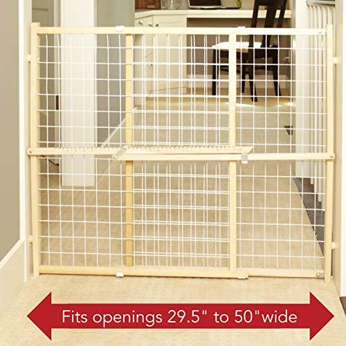 North States Supergate Extra Wide Wire Mesh walk thru Baby Pet Safety Gate