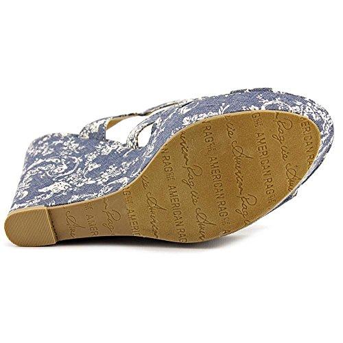 American Fille Kvinners Rachey Åpen Tå Uformell Plattform Sandaler Blå Vintage