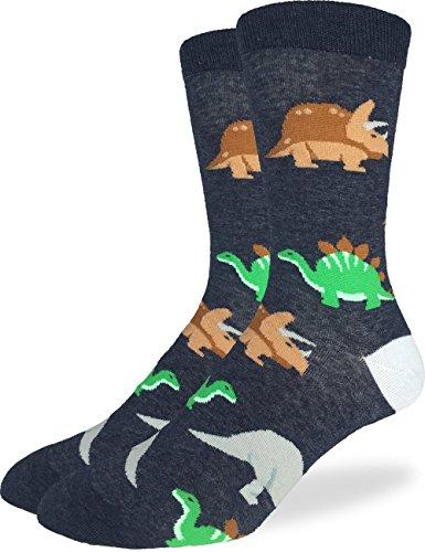 Good Luck Sock Mens Extra Large Jurassic Dinosaur Socks, Size 13-17 Big & Tall