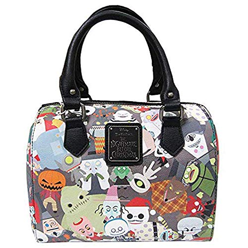 Loungefly x Nightmare Before Christmas Chibi Character Print Duffle Purse (One Size, Multi)