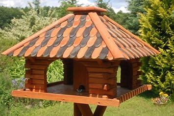 Deko Shop Hannusch Luxus Vogelhaus Vogelhauschen Super Blickfang Mit Und Ohne Stander Braun Ohne Stander