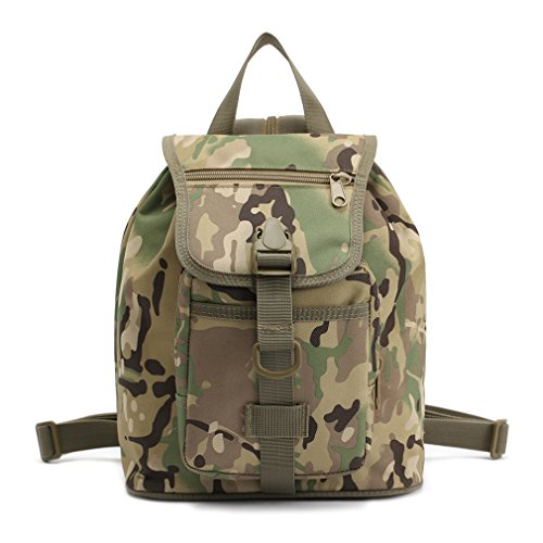 Woodland Shoulder Bag (Kenny Walker Military Army Drawstring Backpack School Shoulder Bag Outdoor Camo Woodland Waterproof Packs Unisex Daypack Rucksack Casual Camera Sling Bag for Women Hiking Camping Travel (CP))
