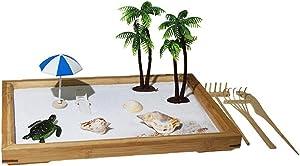 Beach Zen Garden Kit Mini Zen Garden Sandbox Office Zen Garden Accessories Decoration for Home Office