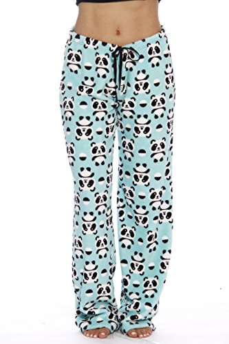 Just Love Women's Plush Pajama Pants, Medium, Panda Jam (Flannel Pj Pants For Juniors)