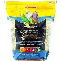 sunseed vita prima large hookbill safflower formula 4.5lb 2 kg