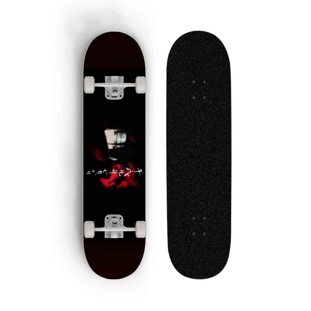 Skwingt Skateboard For NARUTO: Uchiha Itachi, Full Version Skateboard Skateboard Professional Four-Wheel Double Rocker Beginner Boys And Girls Maple Skateboard Skateboards, Adult Skateboard