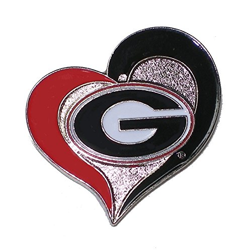 Georgia Bulldogsラペルピンチームロゴとハート型NCAA公式 B017PMV0JU Georgia B017PMV0JU, 銀蔵:d96740ba --- hanjindnb.su