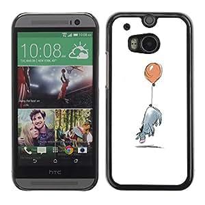 Be Good Phone Accessory // Dura Cáscara cubierta Protectora Caso Carcasa Funda de Protección para HTC One M8 // Minimalist Cartoon Kids
