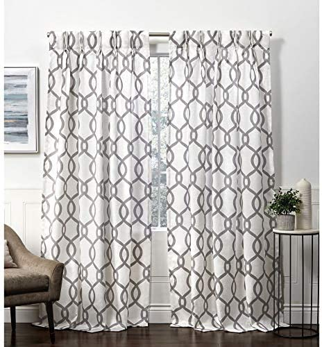 Exclusive Home Curtains Kochi Linen Blend Hidden Tab Top Curtain Panel Pair