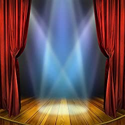 ST 6X6FT Wedding Music Theatre Photography Backdrop Wood Floor and Lighting Background for Personal Party Backdrop or YOUTUBE Background Props ST660249