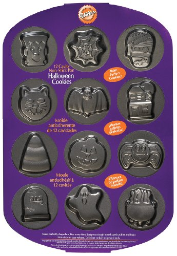 Wilton 12 Cavity Halloween Cookie Pan- Discontinued By Manufacturer ()