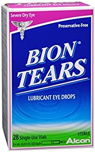 Bion Tears Lubricant Eye Drops Single Use Vials 28 Each (Pack of 4)