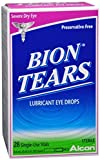 Bion Tears Lubricant Eye Drops Single Use Vials 28 Each (Pack of 8)