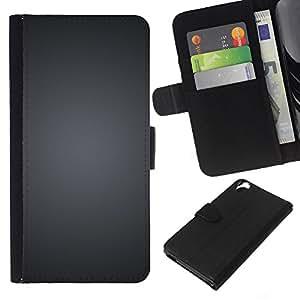 KLONGSHOP // Tirón de la caja Cartera de cuero con ranuras para tarjetas - Gris cepillado Negro Blanco Minimalista - HTC Desire 820 //