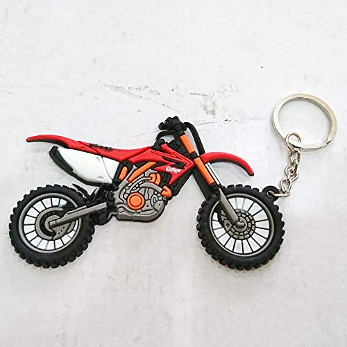 Automotive Soft Rubber Keyring Keychain Keytag For Aftermarket Universal Car Motorcycle Bike Accessories For Example Super Bike Sport Bike Street Bike Motocross Off Road honda CRF CBR RR Enthusiasts ()