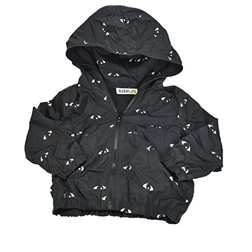 DOKI Little Girls' Polyester Spring and Autumn Hooded jacket 4T Black