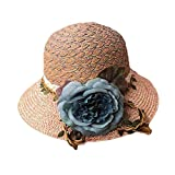 Panda Superstore Summer Holiday Travel Beach Cap Women's Summer Sun Hat Folding Straw Hat
