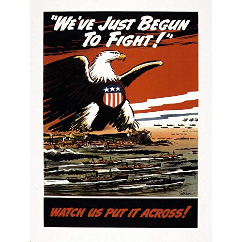Wee Blue Coo Propaganda War WWII USA American Eagle Navy Air Force Unframed Wall Art Print Poster Home Decor Premium