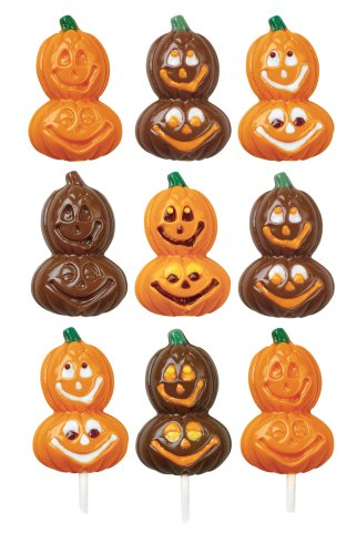 Wilton Smiling Pumpkins Lollipop Mold- Discontinued By Manufacturer (Jello Jiggler Molds Halloween)
