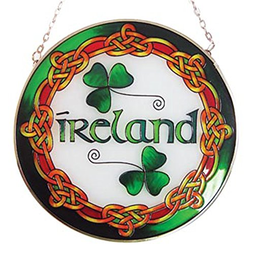 Ireland Round Stained Glass Panel (Round Stained Glass Panel)