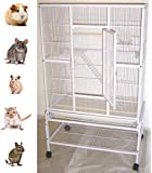 New Large Wrought Iron 4 Levels Ferret Chinchilla Sugar Glider Rats Mices Rabbit Squirrel Hamster Cage with Removable…