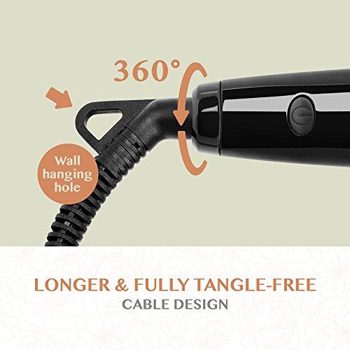 Hair Straightening Brush BearMoo 360 degree Cord with Wall Hanging Hole