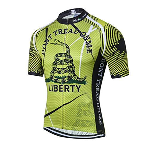 Mens Cycling Jersey Shirt,2019 Short Sleeve Bike Jersey Riding Tops Outdoor MTB Cycling Clothing Snake Green L