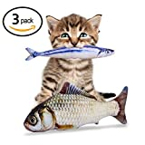 Catnip Fish Toys for Cats - North American Grown Organic Catnip - 3 Refillable Catnip Toys for Cats - 11.5