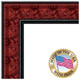 ArtToFrames 14x16 inch Mahogany and Burgundy With Beaded Lip Picture Frame, 2WOMN9590-14x16