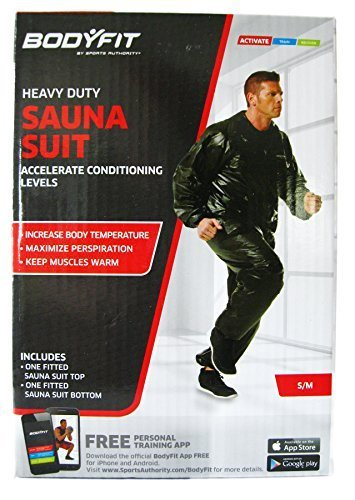 Bodyfit Heavy Duty Sauna Suit, Black Small/medium