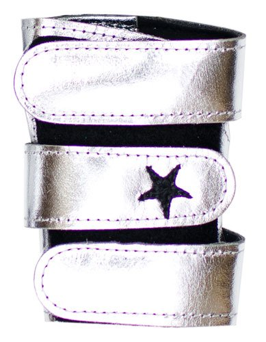 1e409f1a4ed2 Metallic Power Up Gymnastics Wrist Supports - Shimmer Leather, Silver, XS