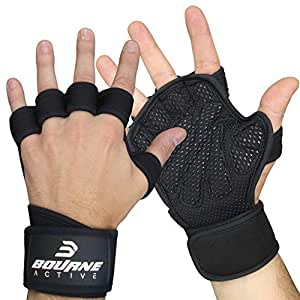 Ventilated Fitness Gym Weight Lifting Gloves with Built-In Wrist Wraps for Men & Women. Full Palm Protection & Extra Grip. Great for Weightlfiting, Workout, Cross Training & WODs - XXS