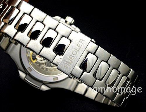 Tickwatch HB skelett automatisk mekanisk rostfritt stål herrarmbandsur